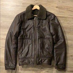 ZARA man leather jacket  i i